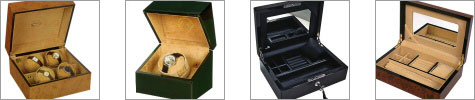 watch winders, jewellery boxes, watch collectors boxes and luxury gifts