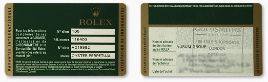 Rolex serial number registry